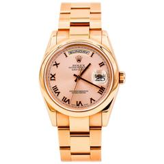 Rolex Rose Gold Day-Date Automatic Wristwatch