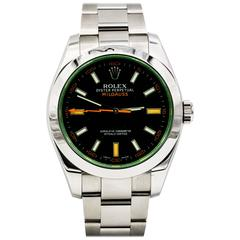 Rolex Stainless Steel Milgauss Black Dial 40 mm Automatic Wristwatch