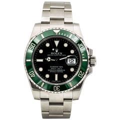Rolex Stainless Steel Submariner Hulk Green Dial Wristwatch