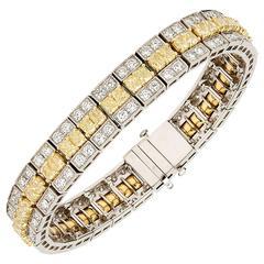 Truly Exceptional Fancy Yellow Diamond Bracelet