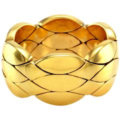 Cartier Flexible Quilted Gold Band Ring