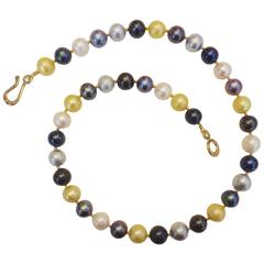 Michael Kneebone Multicolored Pearl Necklace