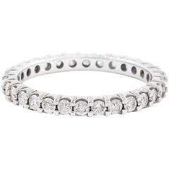 Diamond White Gold Eternity Stacker Band Ring