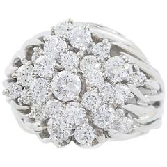 Kwiat New York Diamond White Gold Cluster Ring