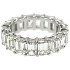 9.0 Carat Emerald Cut Diamond Eternity Band