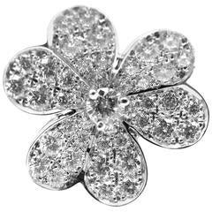 VAN CLEEF & ARPELS Frivole Diamond Flower White Gold Ring