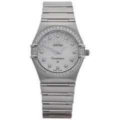 Omega Ladies Stainless Steel Constellation Quartz Wristwatch 2000s