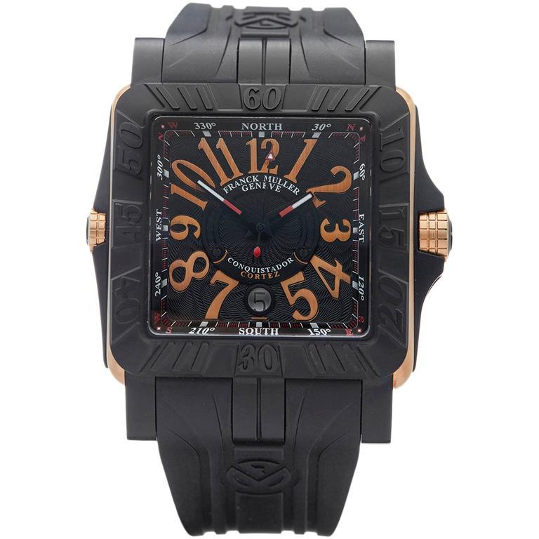 Franck Muller Rose Gold Conquistador Cortez Grand Prix Automatic Wristwatch