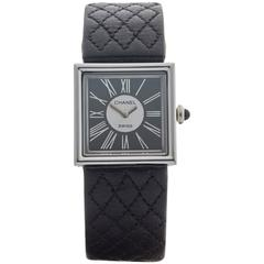 Chanel Ladies Platinum Mademoiselle Quartz Wristwatch