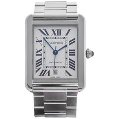 Cartier Stainless Steel Tank Solo Automatic Wristwatch Model 3515