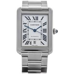 Cartier Stainless Steel Tank Solo Automatic Wristwatch