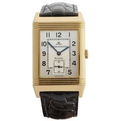 Jaeger-LeCoultre Yellow Gold Reverso Mechanical Wind Wristwatch