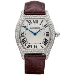 Cartier White Gold Tortue Mechanical Wind Wristwatch RefW3110