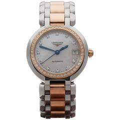 Longines Ladies Yellow Gold Stainless Steel PrimaLuna Automatic Wristwatch