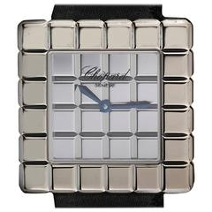 Chopard Ladies White Gold Ice Cube Wristwatch