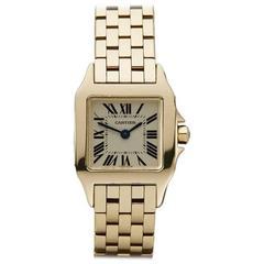 Cartier Ladies Yellow Gold Santos Demoiselle Quartz Wristwatch Ref COM117