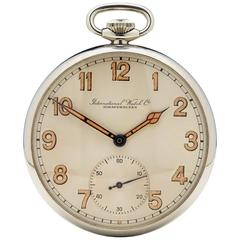 IWC Stainless Steel Military Pocket Watch