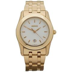 Gucci Ladies Classic Yellow Gold Quartz Wristwatch