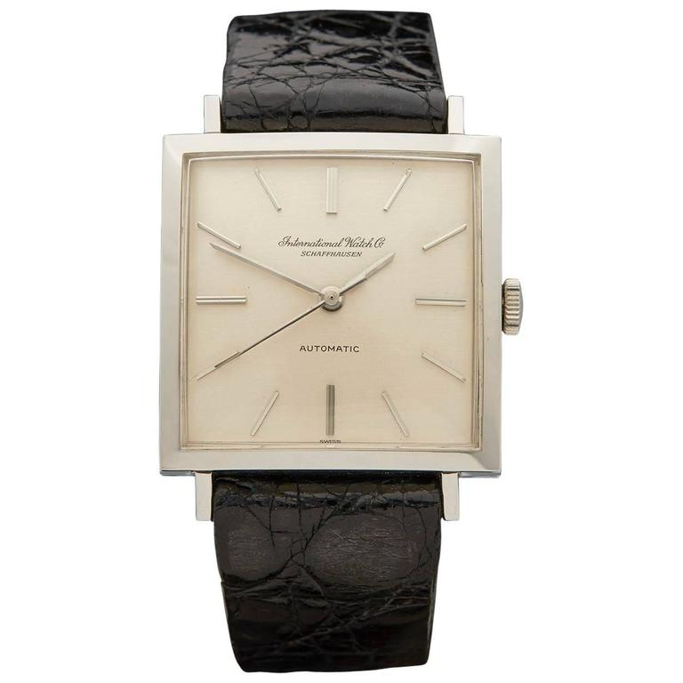IWC Stainless Steel Square Cal.854 Mechanical Wind Wristwatch