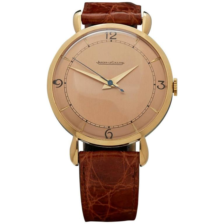 Jaeger-LeCoultre Yellow Gold Manual Wind Mechanical Wristwatch