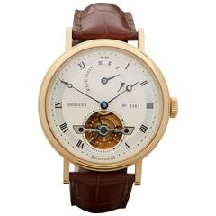 Breguet Yellow Gold Classique Tourbillon 5 day Power Reserve Automatic Watch