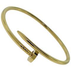 """Cartier Size 19 """"Juste un Clou"""" Yellow Gold Bracelet"""