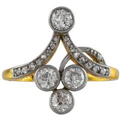 Antique 0.78 Carat Diamond Gold Ring