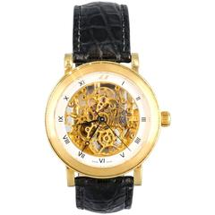 Marc Magnus Yellow Gold Limited Edition Skeleton Automatic Wristwatch