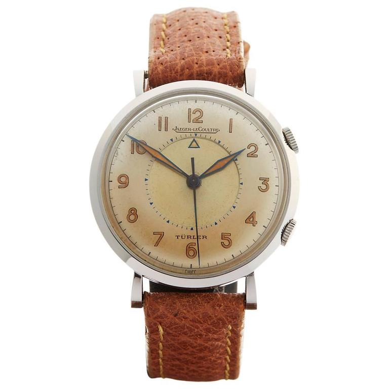 Jaeger-lecoultre Stainless Steel Memovox Turler Alarm Cal. P489/1 Wristwatch