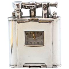 Dunhill Retro Large Sterling Silver Watch Lighter