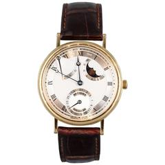 Breguet Yellow Gold Classique Moon Phase Automatic Wristwatch Ref 3130
