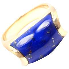 Bulgari Lapis Lazuli Yellow Gold Band Ring