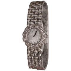 Patek Philippe Ladies White Gold Diamond Dial Wristwatch