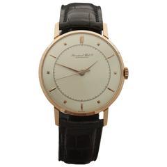 IWC Rose Gold Cal. 89 Mechanical Wind Wristwatch 1952