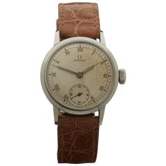 Omega Stainless Steel Mechanical Wind Wristwatch Ref 2162 1944