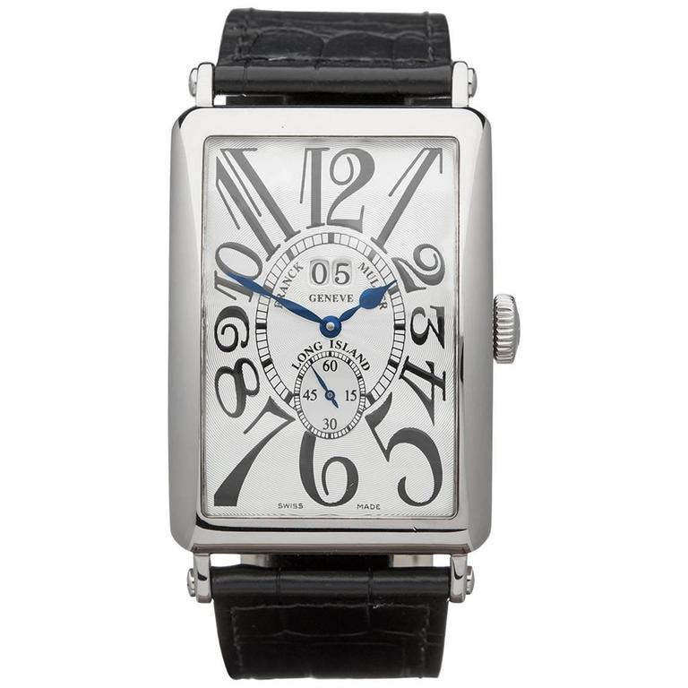Franck Muller White Gold Long Island Big Date Automatic Wristwatch