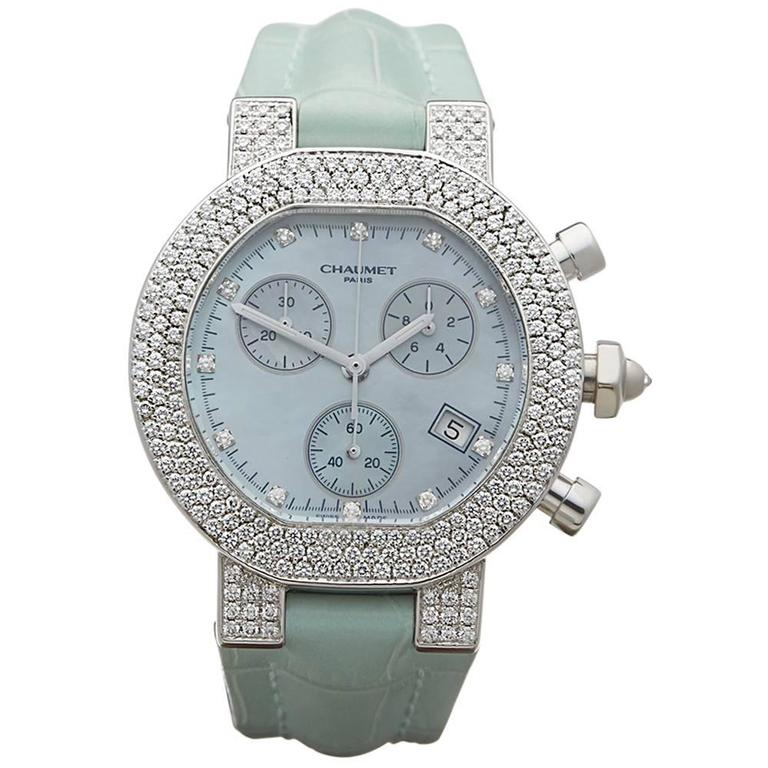 Chaumet Ladies White Gold Diamonds Style De Chaumet Quartz Wristwatch