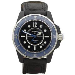 Chanel Stainless Steel J12 Marine Ceramic Bezel PVD Coated Automatic Wristwatch