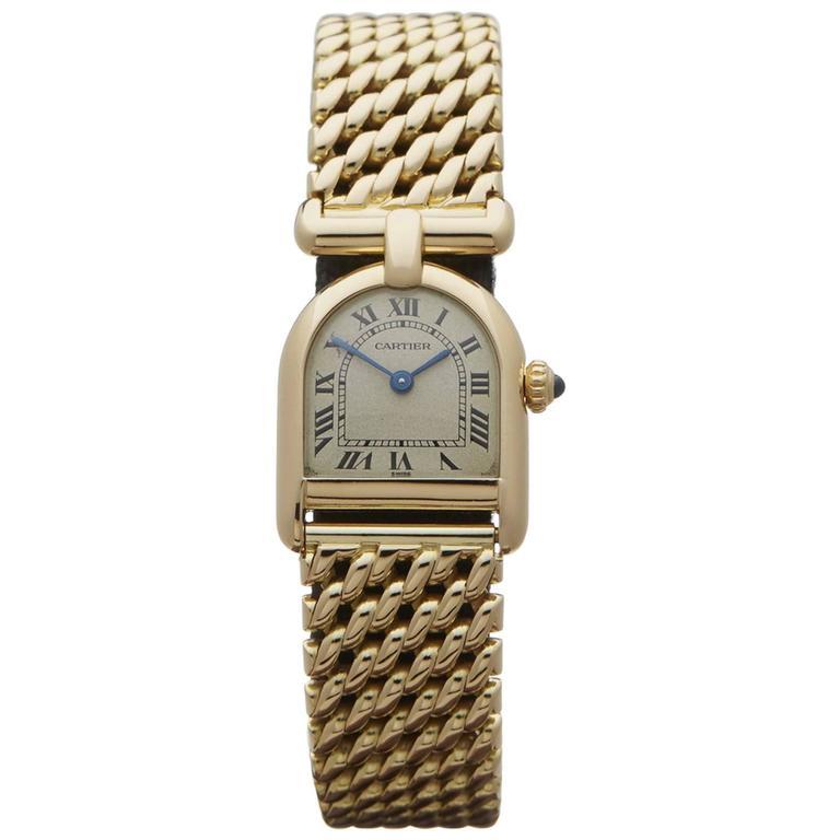 Cartier Ladies Yellow Gold Quartz Wristwatch 1990