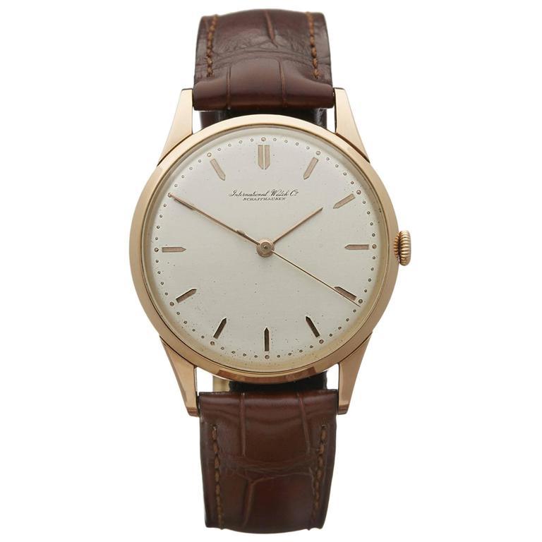 IWC Rose Gold Calibre 89 Mechanical Wind Wristwatch 1948