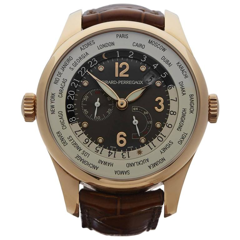 Girard Perregaux WW.TC Rose Gold Automatic Wristwatch
