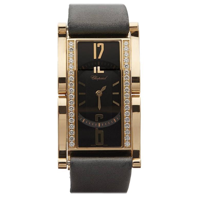 Chopard Ladies Rose Gold Classic Copacabana Quartz Wristwatch Ref 13/9017