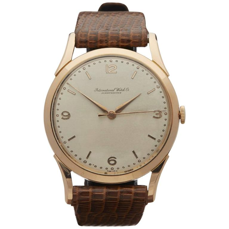 IWC Rose Gold Cal 89 Mechanical Wind Wristwatch 1950s