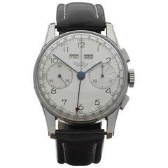 Breitling Stainless Steel Datora Mechanical Wind Wristwatch Ref 784