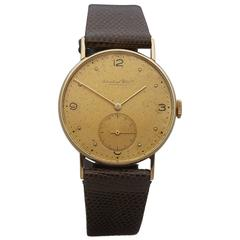 IWC Yellow Gold Cal.83 Mechanical Wind Wristwatch Ref 1075770 1941