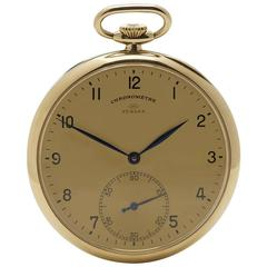 IWC Turler Yellow Gold Mechanical Wind Pocket Watch 1930s