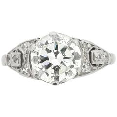 1.80 Carat Old Cut Victorian Engagement Ring, c.1890s