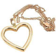 Retro  Yellow Gold Heart Necklace
