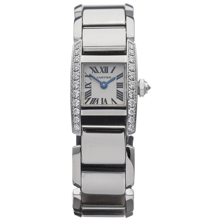 Cartier Ladies White Gold Tankissime Quartz Wristwatch 2831