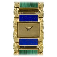 Piaget Ladies Lapis Lazuli Malachite Set Manual Wind Wristwatch